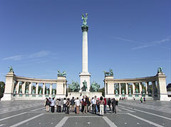 The Millennium Memorial (also known as the Millenial Monument) - Budapest, Hungary