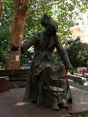Bronze statue of Ferenc Liszt (or Franz Liszt) Hungarian composer - Budapest, Hungary