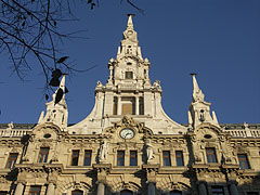 The main facade with steeples on the New York Palace - Budapest, Hungary