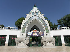 The main gate of of the Budapest Zoo - Budapest, Hungary