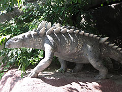 Model of an armored dinosaur - Budapest, Hungary