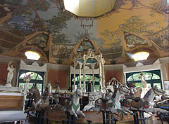 The interior of the monumental merry-go-round, that won the prestigious Europa Nostra architectural award as well - Budapest, Hungary
