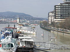 The Duna Korzó promenade and the riverside in the downtown - Budapest, Hungary