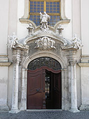 The entrance of the St. Anne's Parish Church - Budapest, Hungary