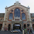 The main facade of the Central (Great) Market Hall, including the main entrance - Budapest, Hungary