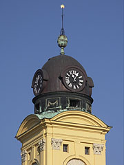 Steeple of the Protestant Great Church of Debrecen (in Hungarian: Nagytemplom) - Debrecen, Hungary