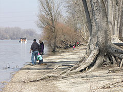 The people are lured to the riverbank by the pleasant sunshine - Dunakeszi, Hungary