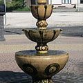 Ornamental fountain in the square in front of the Town Hall - Dunakeszi, Hungary