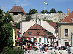 Looking from the main square towards the Castle of Eger - Eger, Hungary