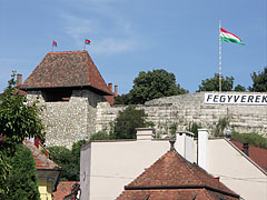 The Hippolyt Gate Tower and the southern wall of the Eger Castle, viewed from the main square - Eger, Hungary