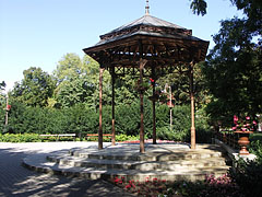 Bandstand at the edge of the Érsekkert park - Eger, Hungary