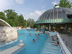 Hot water entertainment pool for the adults in the Thermal Bath of Eger, which was opened in 1932 on 5 hectares of land - Eger, Hungary