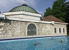 The building of the Turkish Bath, as well as an outdoor thermal pool in beside it - Eger, Hungary
