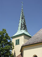 The steeple (tower) of the Lutheran Church - Gödöllő, Hungary