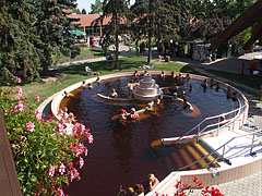 "The outdoor ""Octopus"" (or ""Polip"") pool with medicinal thermal water - Gyula, Hungary"