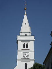 The steeple or tower of the Reformed Old Church of Hódmezővásárhely - Hódmezővásárhely, Hungary