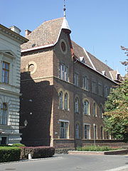 The brick-walled building of the Bethlen Gábor Reformed Secondary School - Hódmezővásárhely, Hungary