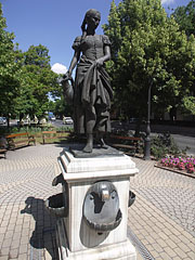 "The ""Girl with a Pitcher"" statue and fountain - Jászberény, Hungary"