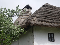 The tatched roof of the folk house - Komlóska, Hungary