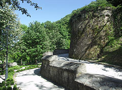 Terrace of Sculpture, the stone retaining walls from some angles seems to be castle walls - Lillafüred, Hungary