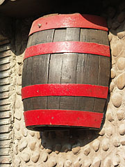 A barrel is a practical decoration for a wine cellar - Mogyoród, Hungary