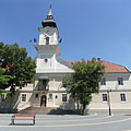 The neoclassical late baroque style Town Hall of Nagykőrös - Nagykőrös, Hungary