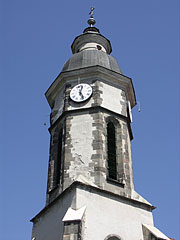 The late gothic tower (steeple) of the Roman Catholic church of Nagymaros - Nagymaros, Hungary