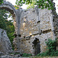 The ruins of the Pauline monastery of Szentlélek in the woods - Ómassa, Hungary