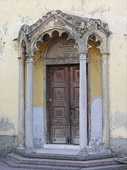 "The door of the Priory Church or Convent Church of Our Lady (""Miasszonyunk-zárdatemlom"") - Pécs, Hungary"
