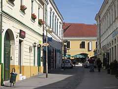 Pedestrian area with shops - Pécs, Hungary