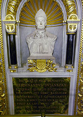 Bishop Nándor Dulánszky's tomb in the lower church (crypt) - Pécs, Hungary