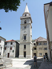 The separated bell tower (belfry) of the Virgin Mary Cathedral - Senj, Croatia