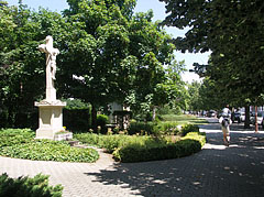 The part of the Millenium Park next to the main street - Siófok, Hungary