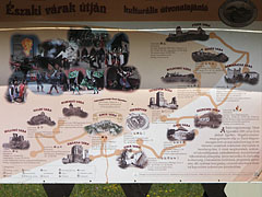 The recommendations of the castles and ruins of Northern Hungary on an information board - Sirok, Hungary