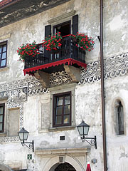 The renaissance balcony of the Homan House - Škofja Loka, Slovenia