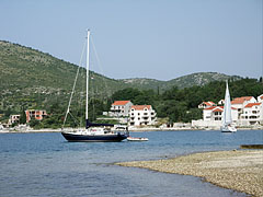 Sailing boats at the beach of Slano - Slano, Croatia