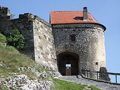 The outer gatehouse with the entrance of the castle - Sümeg, Hungary