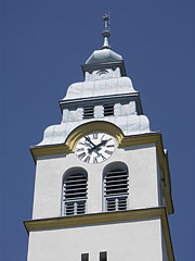 The steeple (tower) of the Reformed Church of Szada - Szada, Hungary