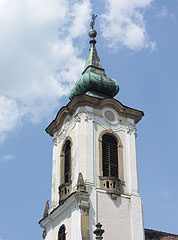 "Steeple (tower) of Blagovestenska Serbian Orthodox Church (""Greek Church"") - Szentendre, Hungary"