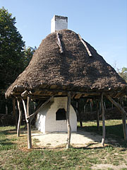 A backyard oven at the croft belonging to a poor peasant family from Kispalád - Szentendre, Hungary