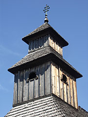The wooden shingle steeple of the Greek Catholic Churc from Mándok - Szentendre, Hungary