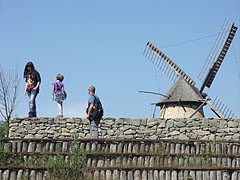 Skanzen Amphiteatrum, and the sails of the windmill from Dusnok in the distance - Szentendre, Hungary