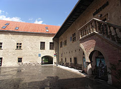 The inner courtyard of the castle that is restored in late renaissance style  - Szerencs, Hungary