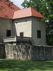 The castle and the detail of the castle wall - Szerencs, Hungary