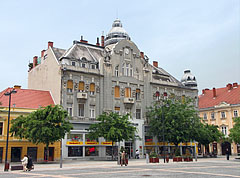 A secession style (or Art Nouveau) residental building on the main square (the former Savings Bank of Szombathely) - Szombathely, Hungary