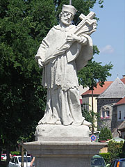 Sculpture of Saint John Nepomucene, the national saint of the Czech Republic - Vác, Hungary