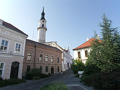 The cobblestoned street leads ti the Castle Quarter - Veszprém, Hungary
