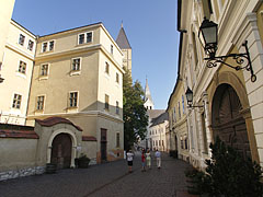 "The Várfok College (former ""Grand Seminary"") on the left, and the Körmendy House (that includes the Pannon University) on the right - Veszprém, Hungary"