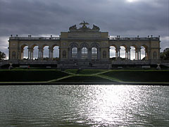 The Gloriette and a small pond in front it - Vienna, Austria