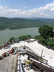 Looking back from the stairs, the view is impressive - Visegrád, Hungary